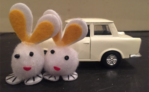 Two Bunnies and a Trabant