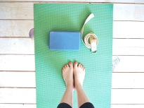 Yoga Mat, block and strap