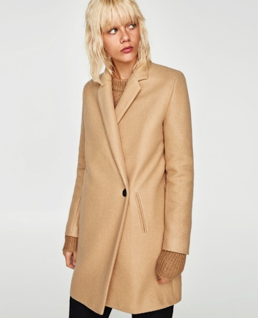 Zara Soft Feel Double Breasted Coat
