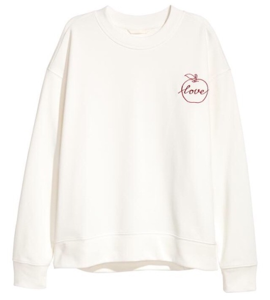 H&M Sweatshirt with Appliqué