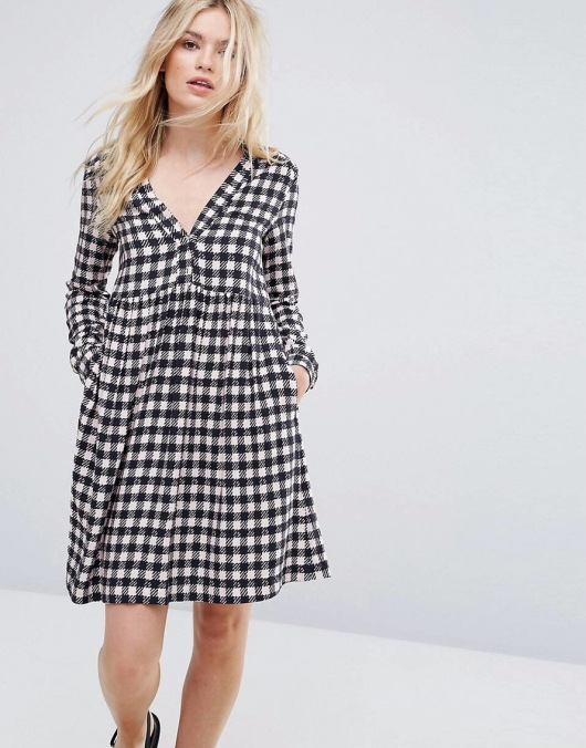 Max&Co Dedica Gingham Shirt Dress