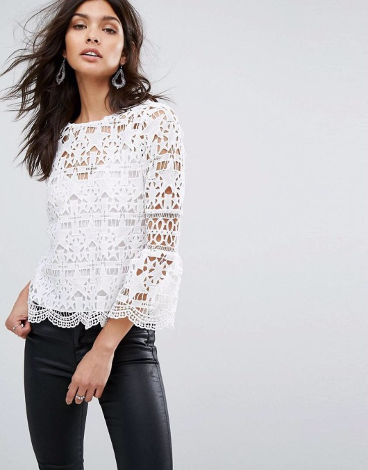 River Island Star Lace Top