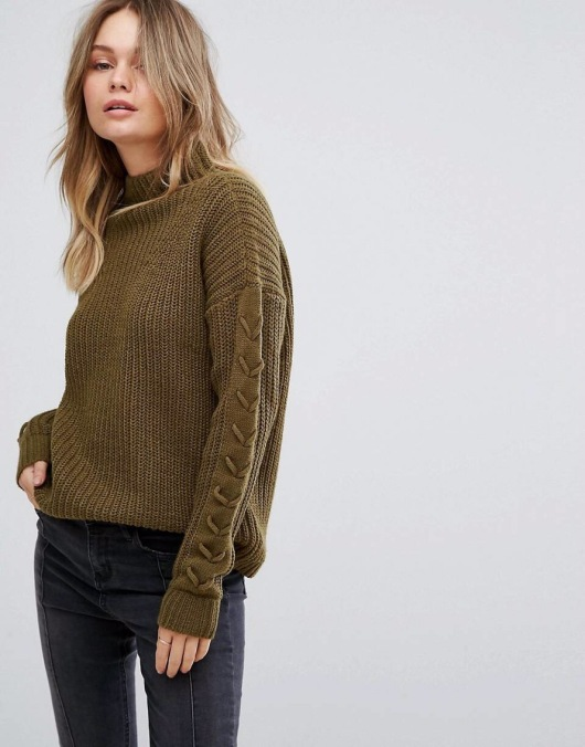 Vero Moda Funnel Neck Side Stitch Jumper