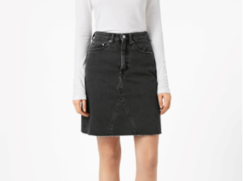 Weekday Decon Black Stone Skirt
